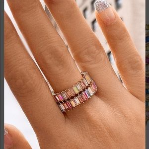 Mini pink Alidia (Ombré) Ring Size 5